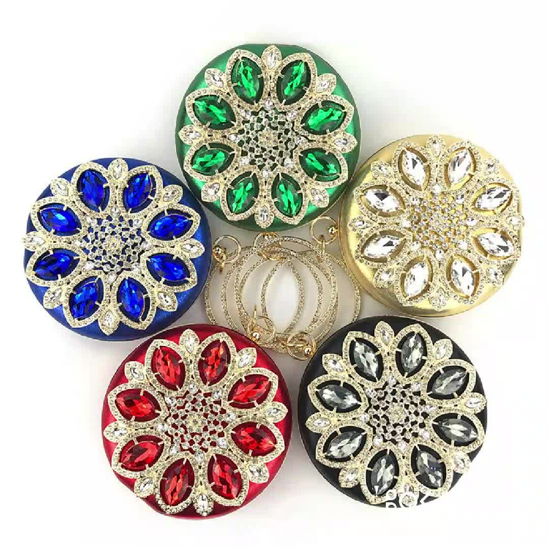 New Dinner Round Dinner Handmade Beaded Banquet Clutch Bag