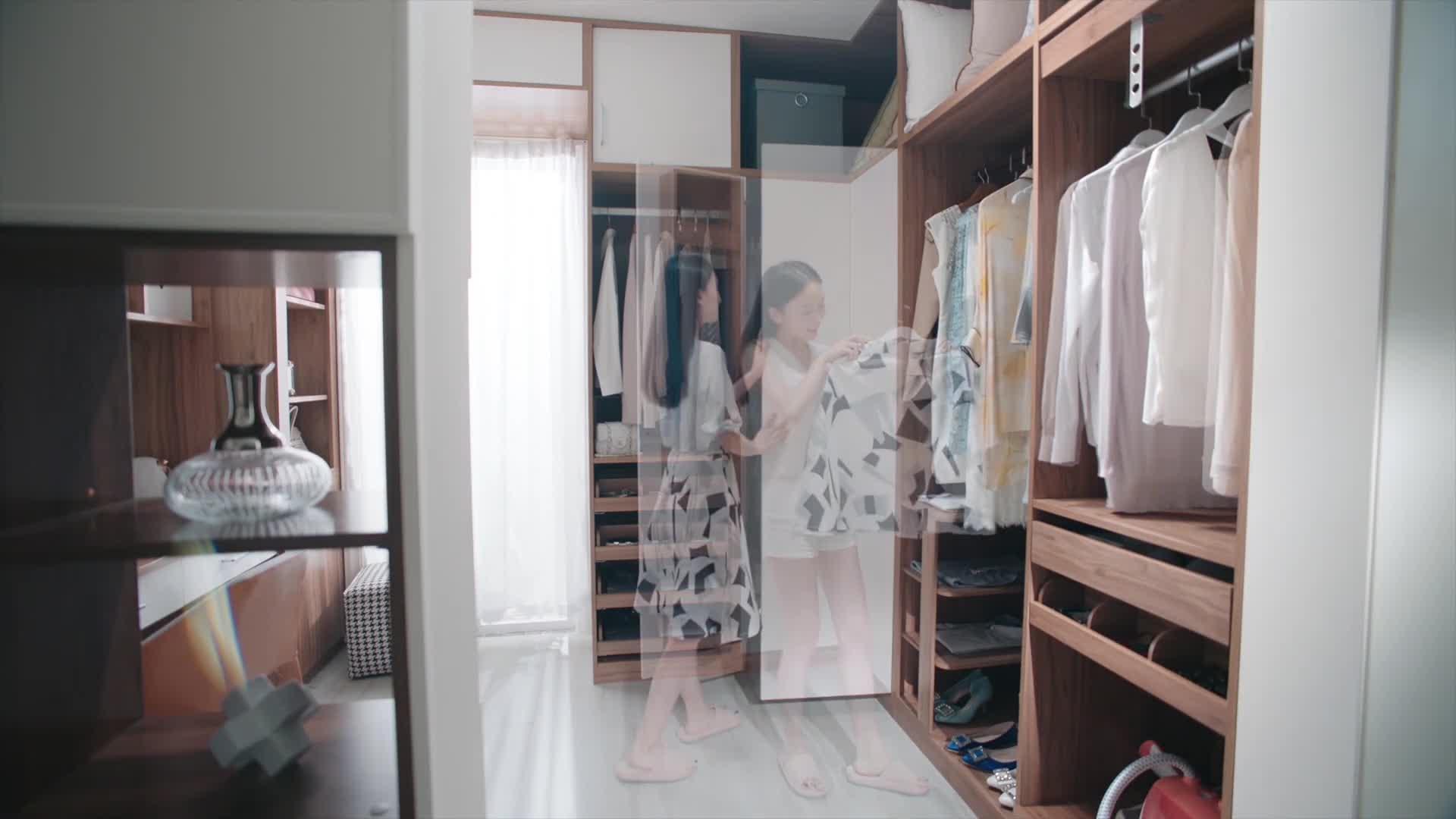 Oppein Popular styles chinese Swing Door bedroom wooden wardrobe door designs