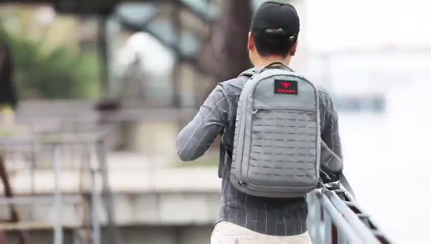 YAKEDA fashion stylish outdoor laser cutting MOLLE mens waterproof travel strong laptop backpacks