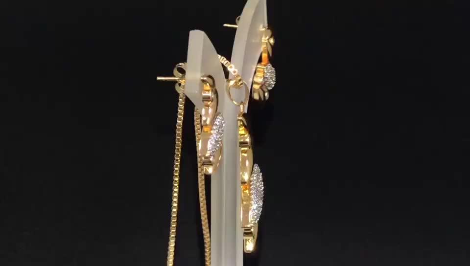 New Arrival Austria Daily Wear Elegant 18K Brass Alloy Jewelry Set