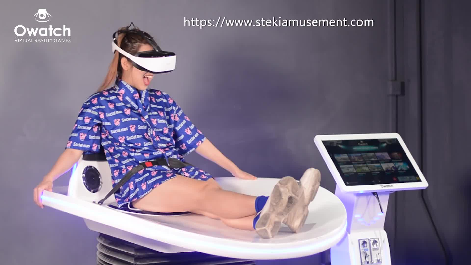 Arcade game center new products 9D VR simulated slide rides extreme virtual reality simulator