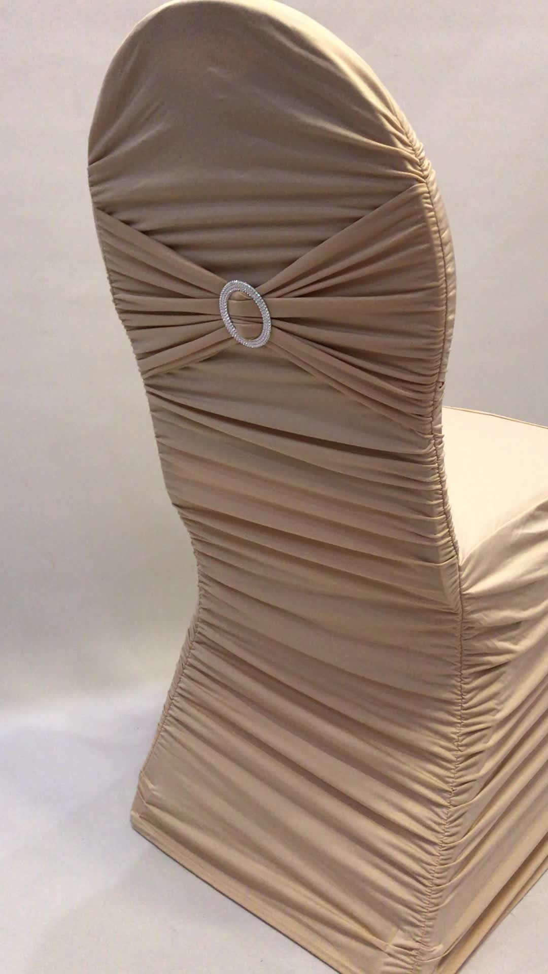 Wholesale Wedding Ruched Lycra Spandex Chair Cover Factory
