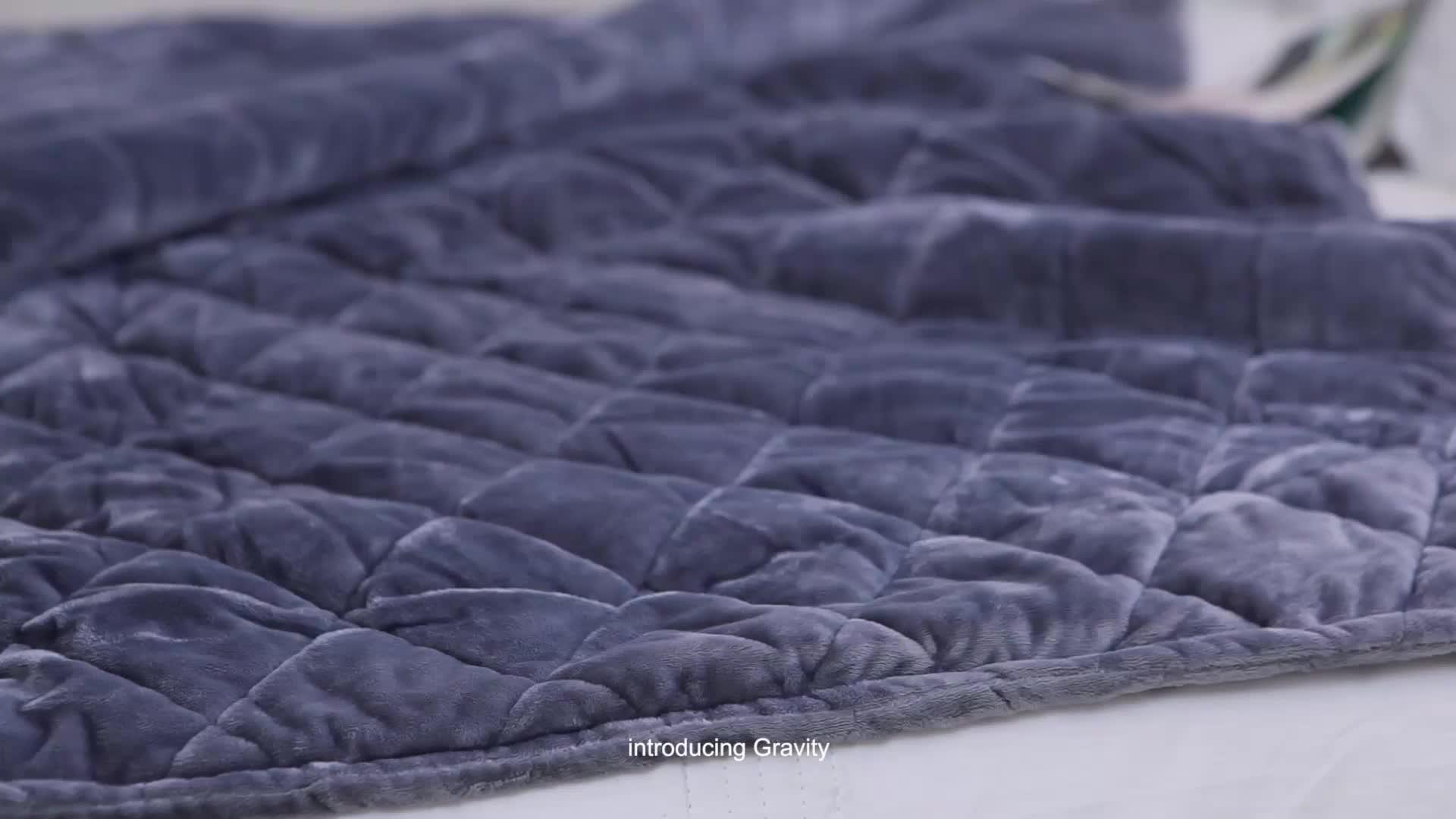 400TC グレー綿カバー加重毛布子供と大人のため