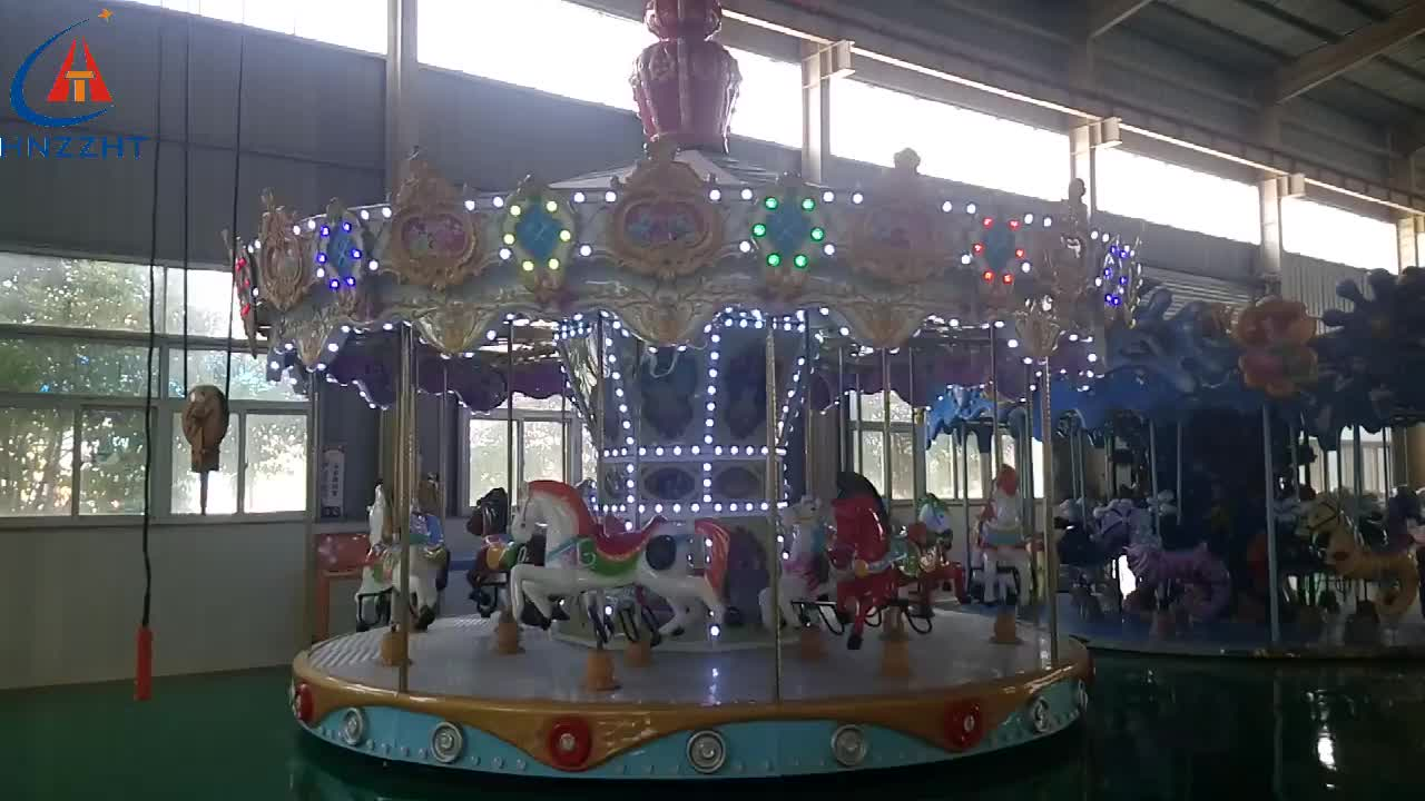 Top quality and reasonable price amusement park kids rides carousel horse