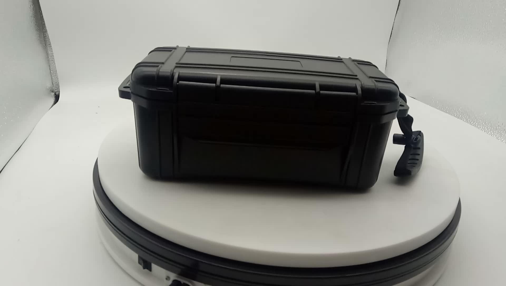 Air tight anti crush กลิ่นซิการ์กล่อง 15ct travel humidor สีดำกลางแจ้ง OEM โลโก้ม