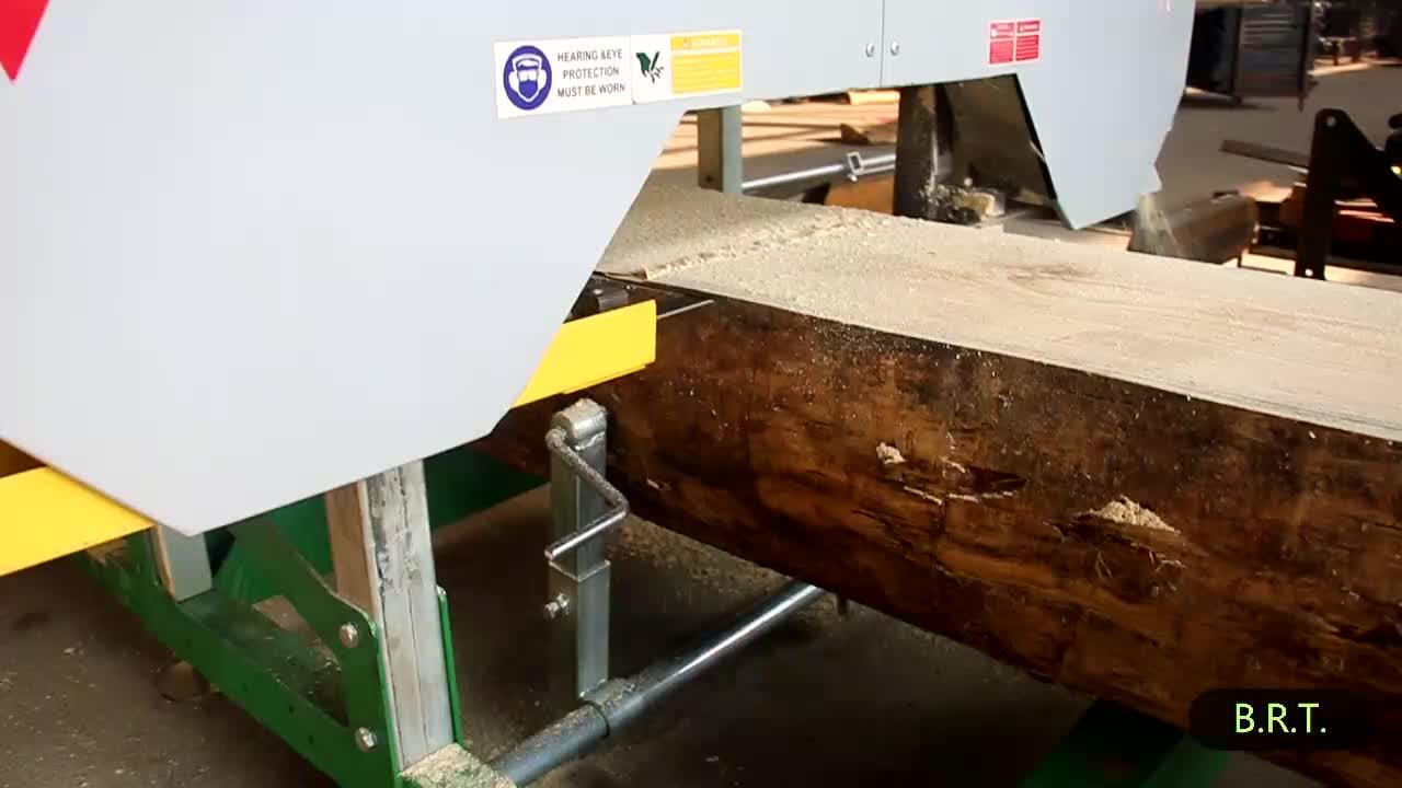 Sierra de banda Horizontal molinos Sierra de corte de madera portátil con motor de gasolina o diésel