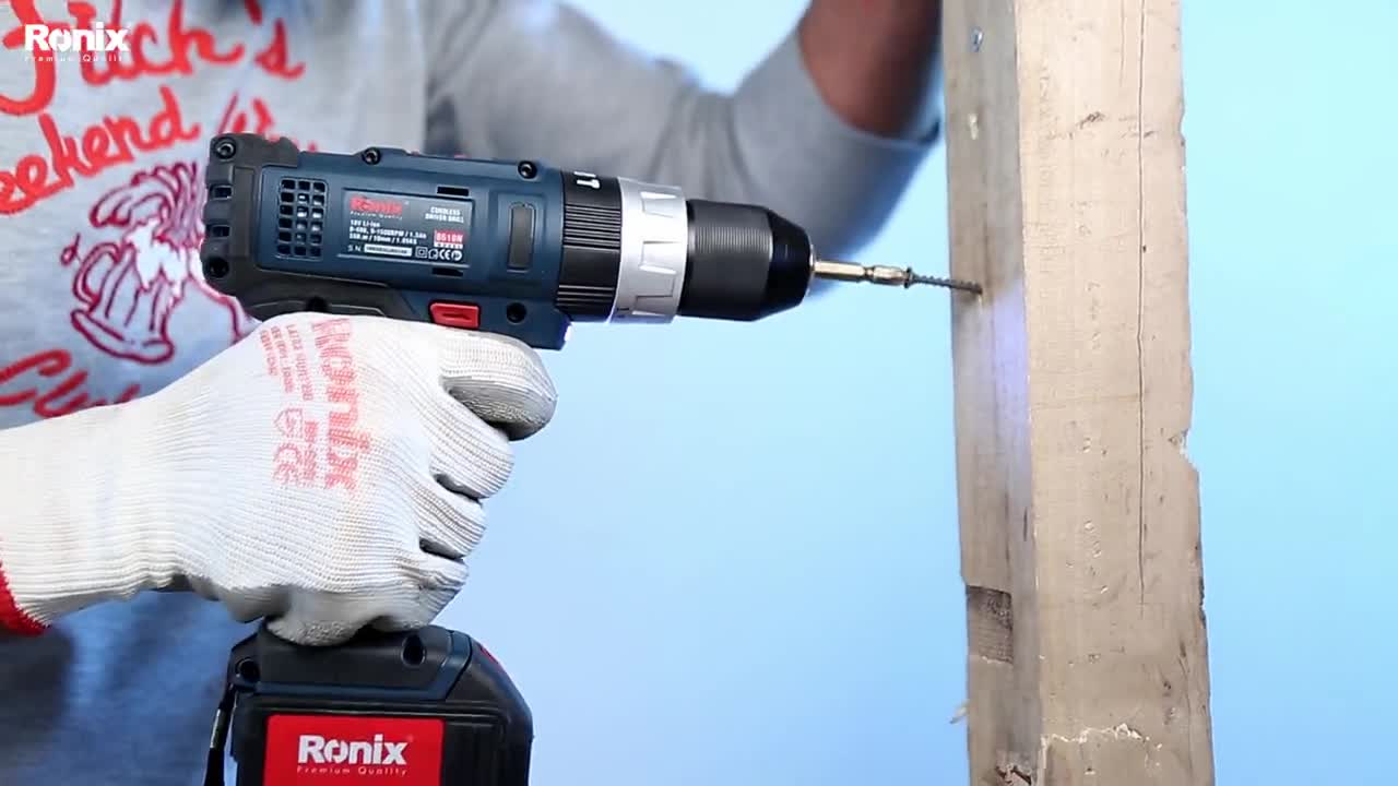 10% Discount 2019 New Ronix 8618 samsung battery powerful machine, 18v cordless impact drill