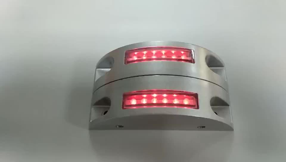 Underground LED solar cat eyes solar garden light aluminium road studs