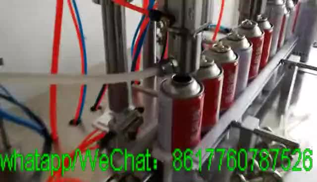 Factory Pu Foam 3 In 1 Deodorant Gas Spray Paint Semi Automatic Can Pharmaceutical Aerosol Filling Machine