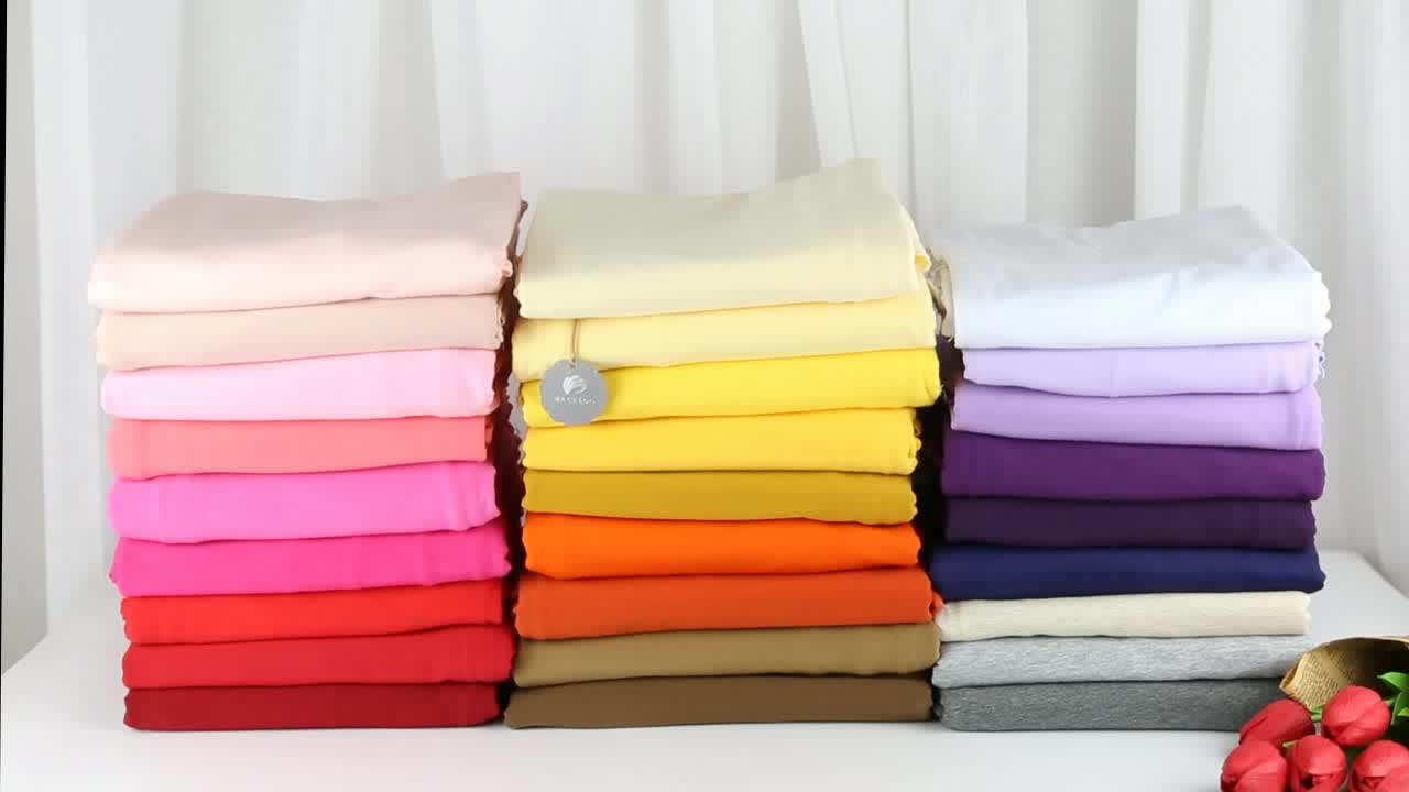126 colors Stock lot china 4 way stretch lycra jersey knit textile 95 cotton 5 spandex fabric for apparel