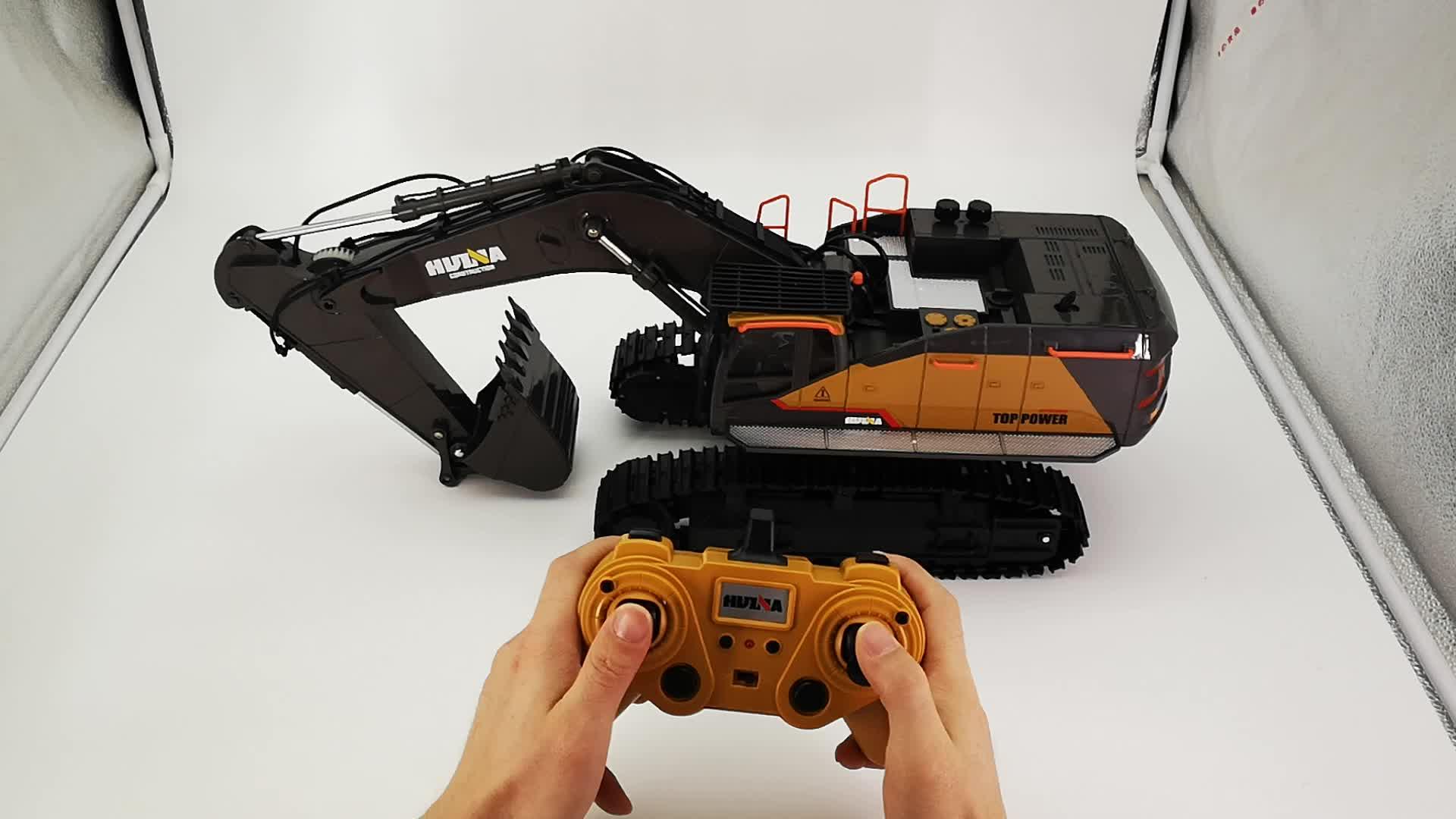 2020 nouveau Huina 1592 pelle construction camion jouets cadeaux alliage en métal modèle de véhicule d'ingénierie télécommande r c voiture rc