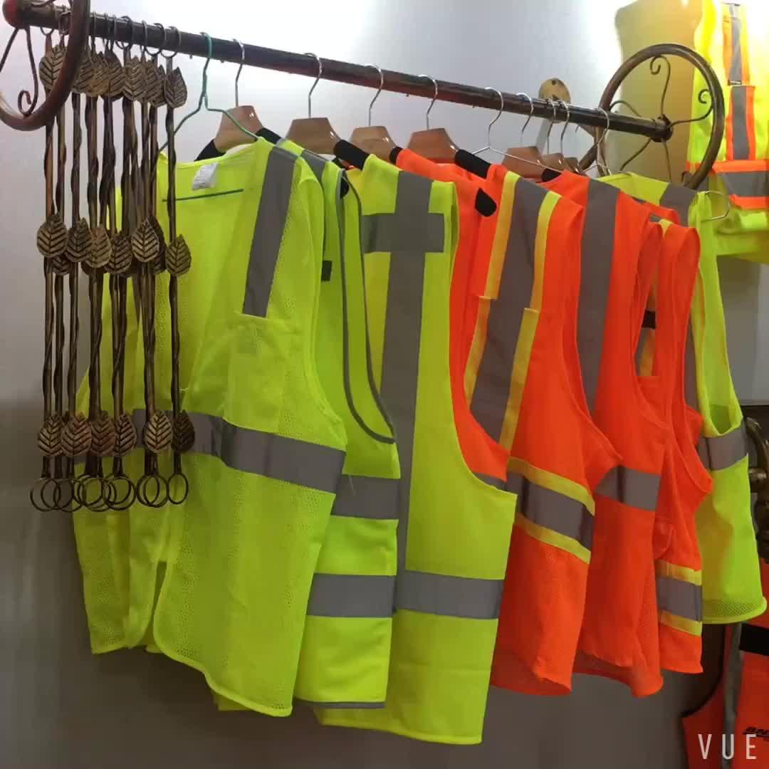工場出荷時の価格 100% ポリエステル hi vis ベスト反射安全ベスト