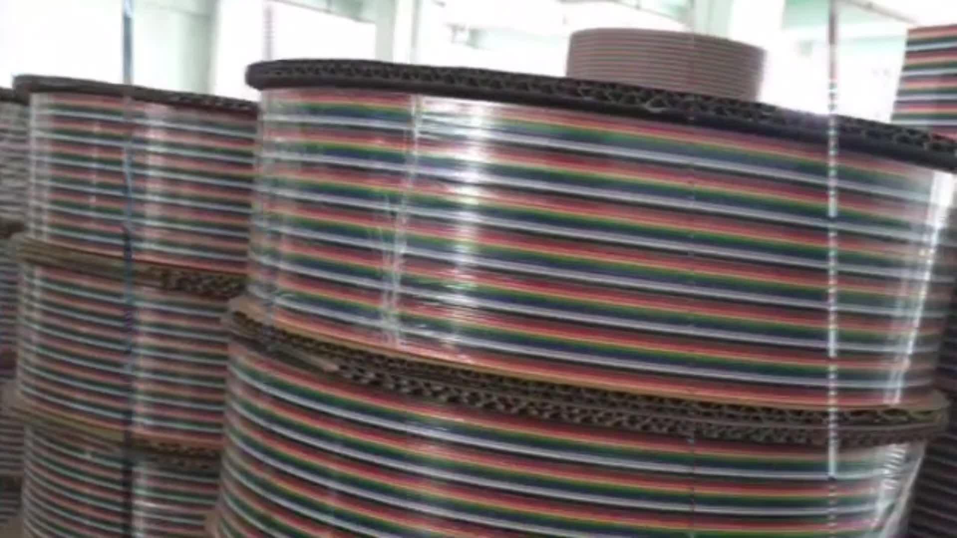 2651 1.27mm 10 14 16 20 24 26 30 34 40 50 60 64 broches IDC connecteur arc-en-ciel câble plat