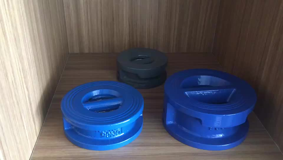 Ductile Iron Wafer Type Double Disc Butterfly Check Valve