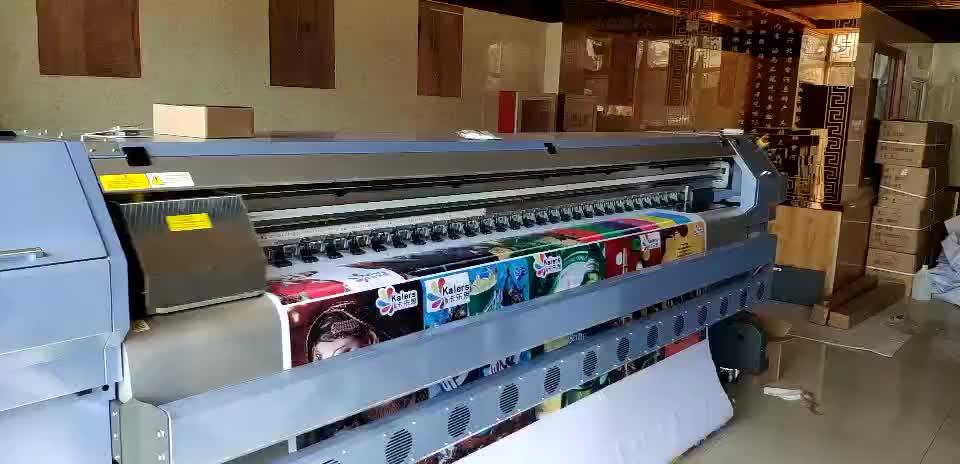 Preço de fábrica!! 3.2 m impressora konica solvente banner flex com 8 Konica 512i cabeças