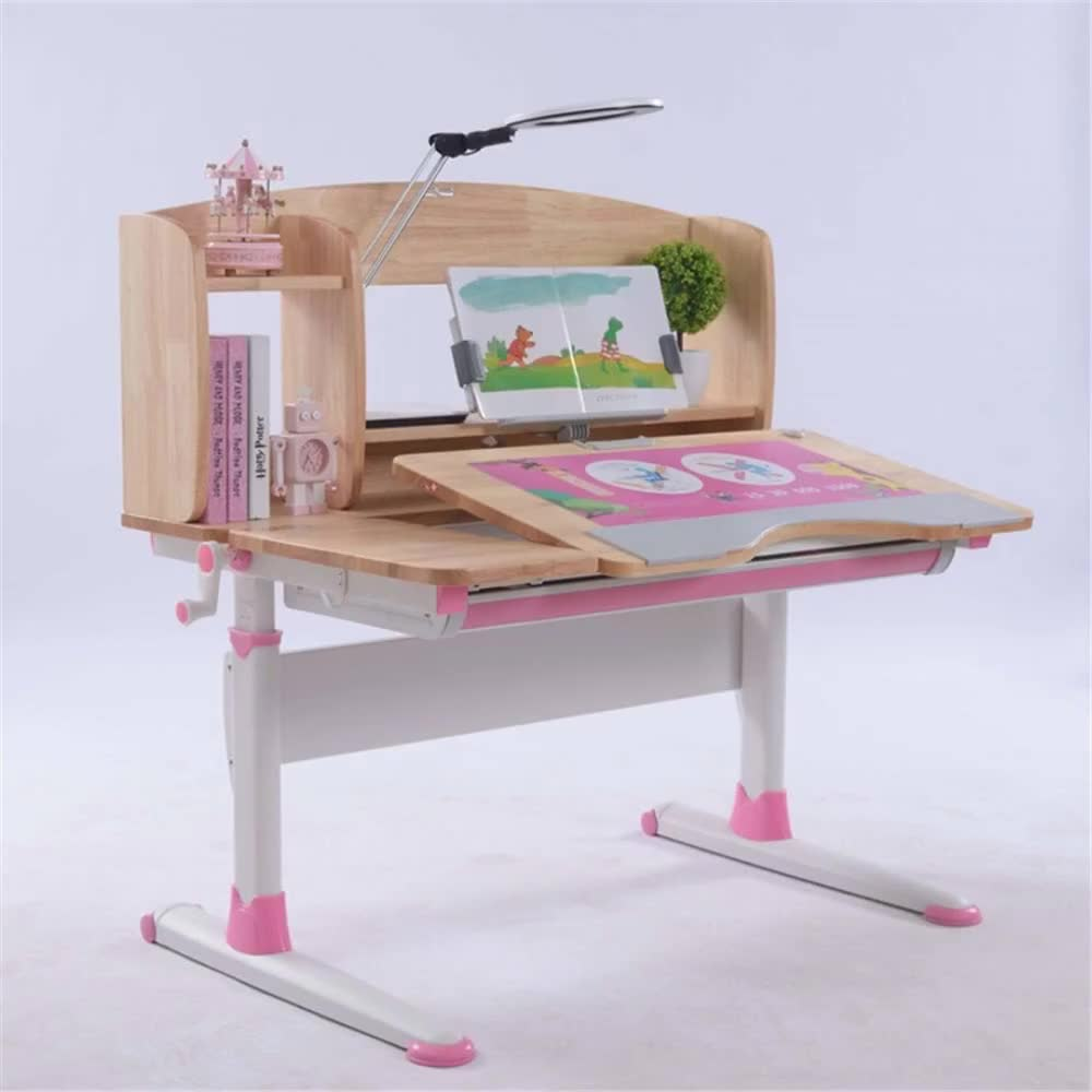 china brand kids study table 105 not MDF multifunctional tilting desk chair