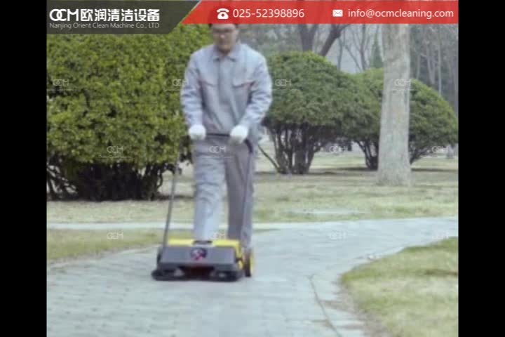Walk Behind Road Sweeper Hand-Controlled Mechanical Sweeper