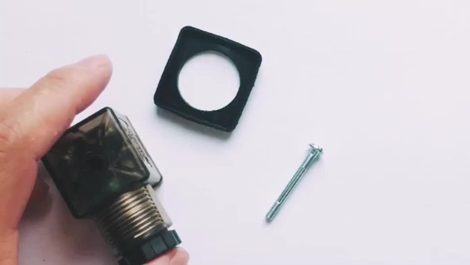 Din 43650-A Line-Socket Plug for Valve Solenoid Coils Connector DIN43650A Led Indicator DC VOLT