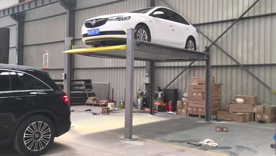 Mobile garage parking equipment and hydraulic for car lift portable car parking system