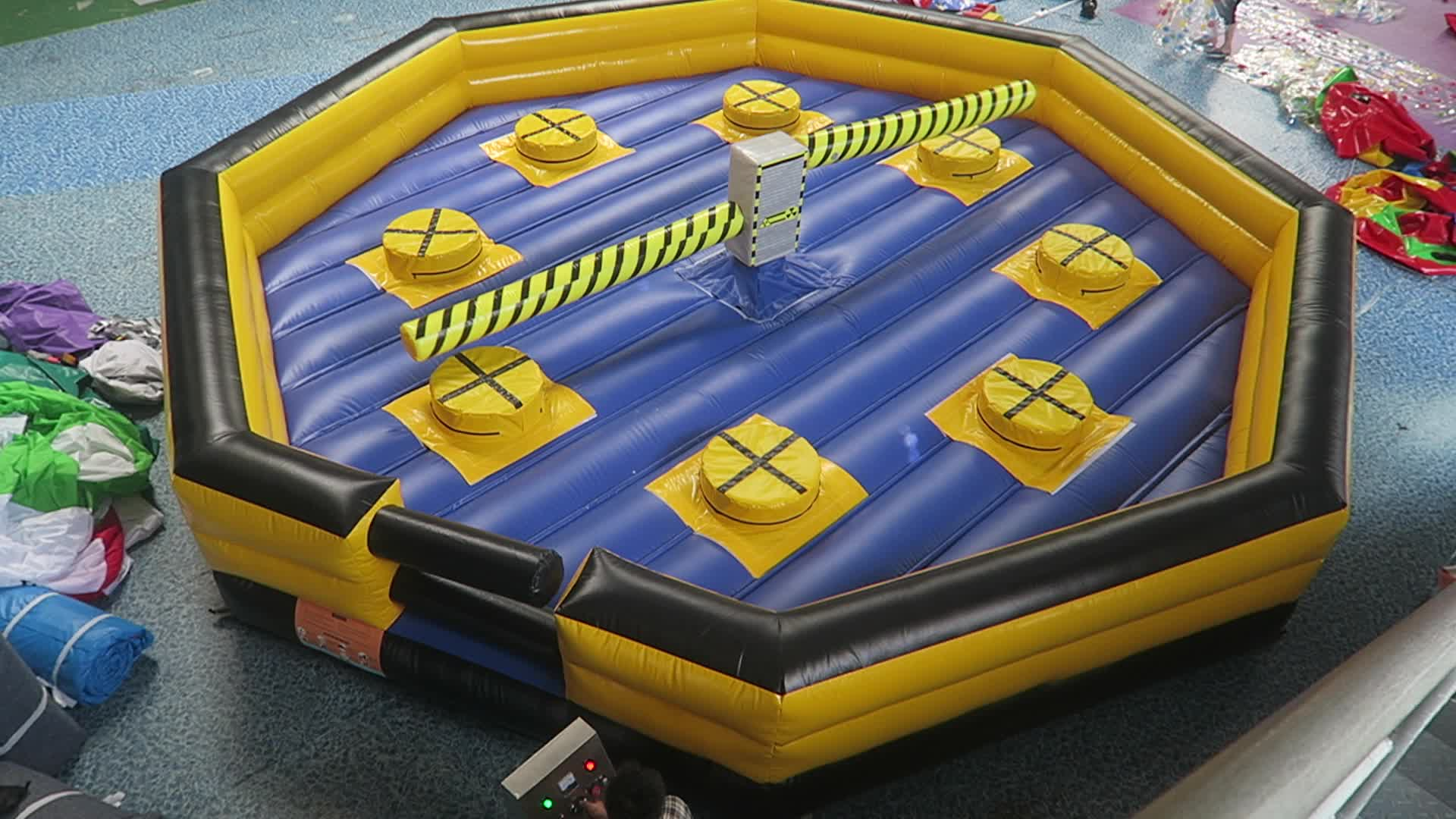8m inflatable wipeout inflatable meltdown wipeout mechanical challenge eliminator games inflatable sweeper games