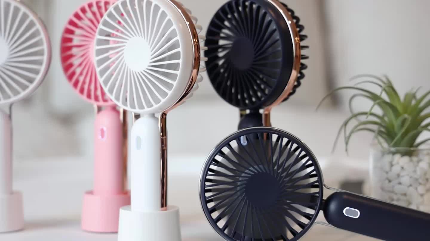 2019  hot selling Portable Mini USB Rechargeable Fan Phone Holder Fan for office