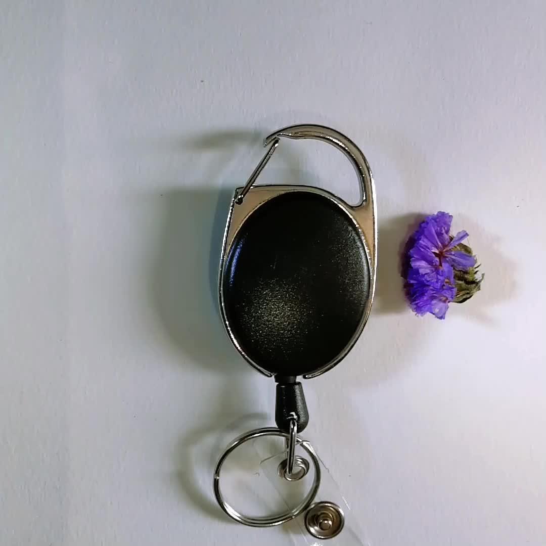 Durevole Retrattile Yoyo Reel Badge Holder con la Parte Posteriore della Clip da Cintura Anello Chiave, Moschettone Badge Reel per la Carta D'IDENTITÀ Portachiavi