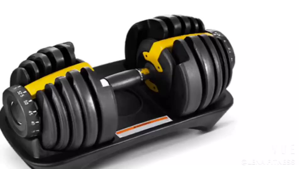 Factory direct fitness Equipment 90lb  Adjustable Dumbbell for gym