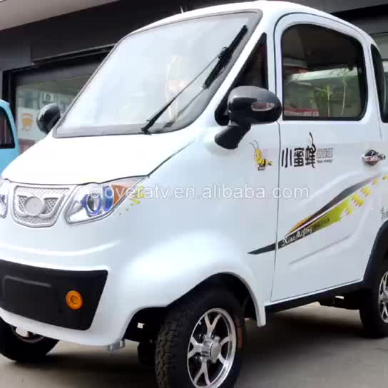 CE Approved Fashionable Cheap Electric Car 3 Seat 4 Wheel Electric Vehicle for Sale