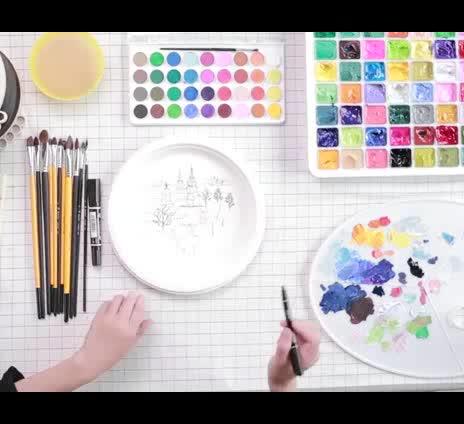 8*15 Cm Chất Lượng Cao Mini Giá Vẽ Với Vải Cho Trẻ Em Rắn Gỗ Giá Vẽ Vải Nhỏ Giá Vẽ