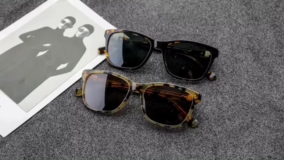 5728 2019 Wholesale Custom Logo Men And Women Popular Fashion Sun Glasses Brand Polarized Acetate Frame Promotional Sunglasses
