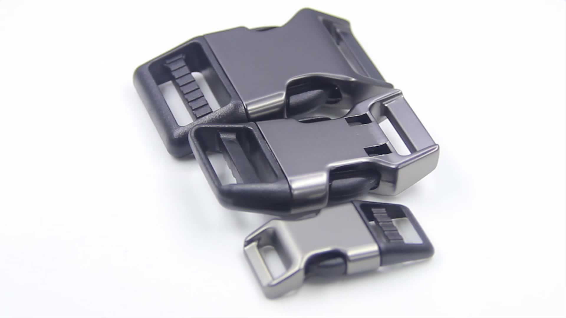 Hot sale popular Eco friendly black alloy metal side quick release buckle