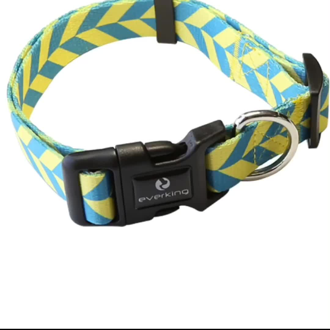 Wholesale Pet Products Polyester Sublimation Custom Print Logo Dog Leash