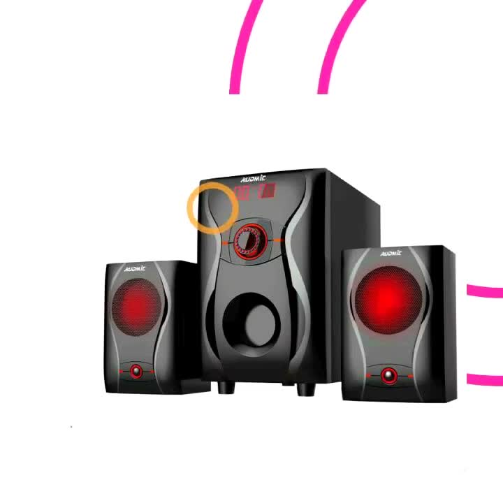 2.1 Portable Bluetooth Audio Speaker System With Bass For Home