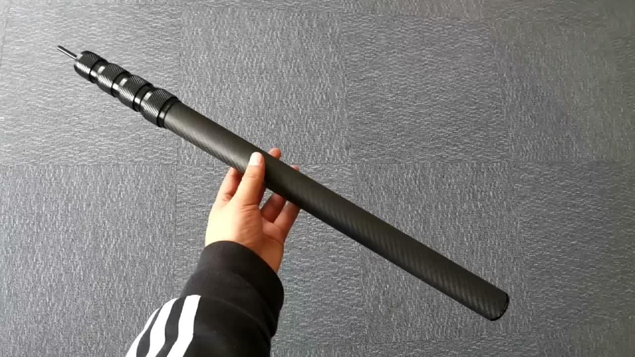 SW Заказная низкая цена 3k труба из углеродного волокна Удлиняющая трубы телескопическая труба из углеродного волокна с замком