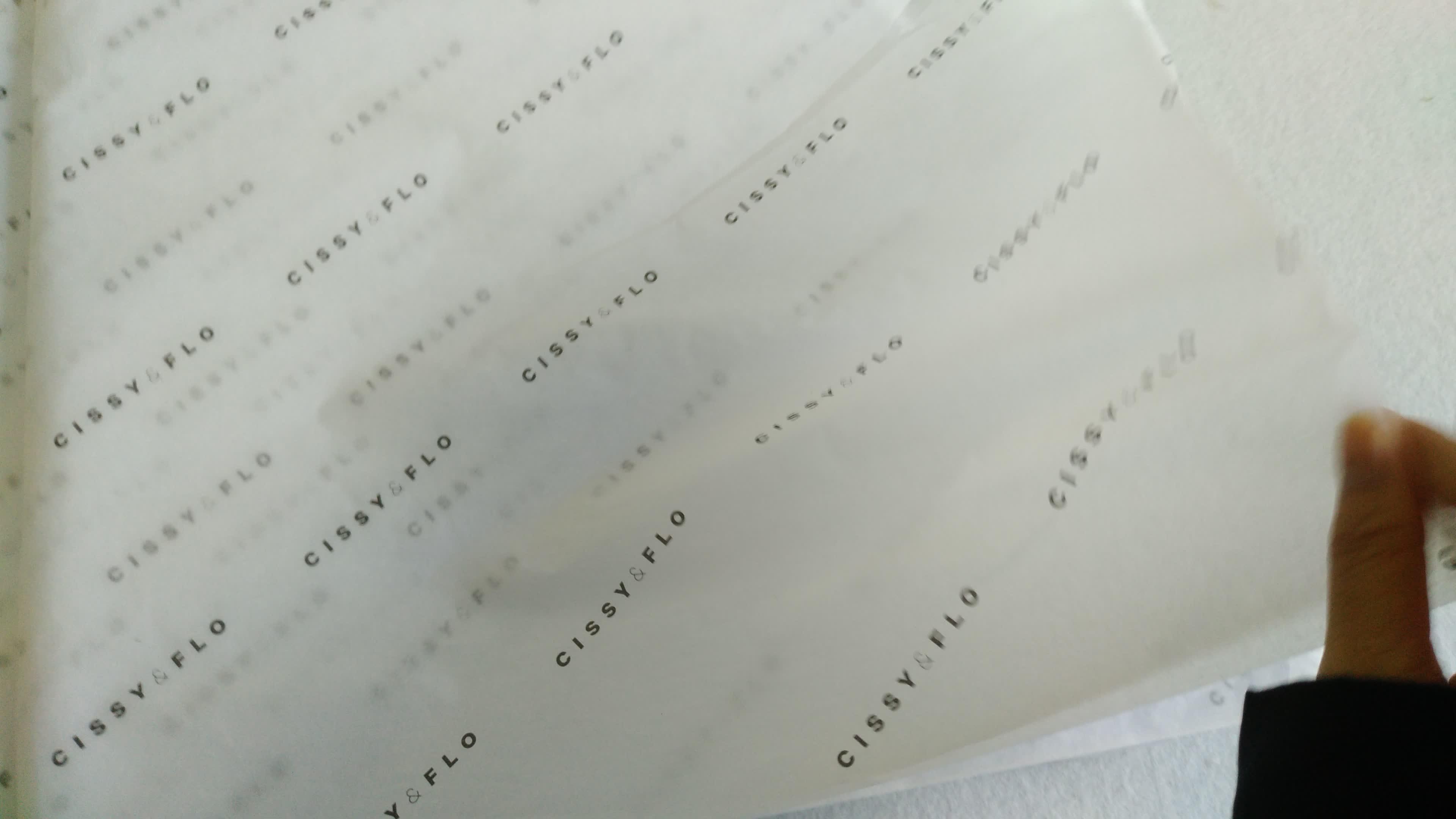 Custom printed logo 17g] 랩핑 조직 종이 대 한 옷