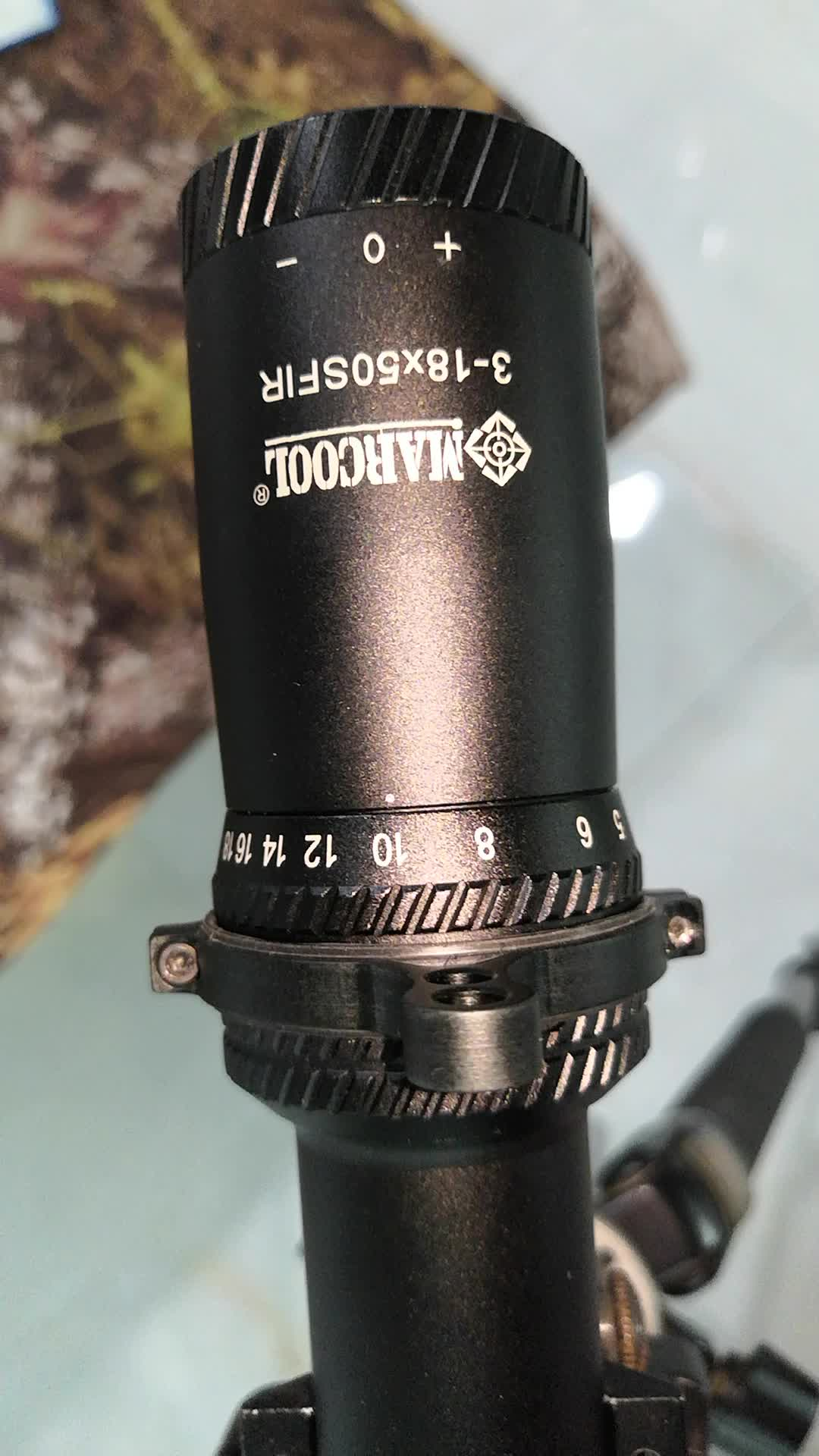 Marcool 3-18x50 tactical riflescope for military, gun weapon sight with 7.62 caliber