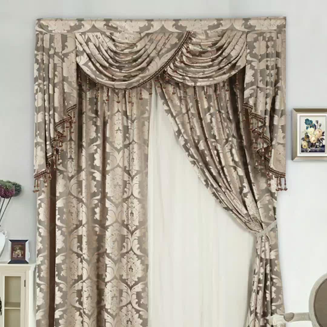 Moda mejor-Venta de ventana de chenille bordado cortina moderna