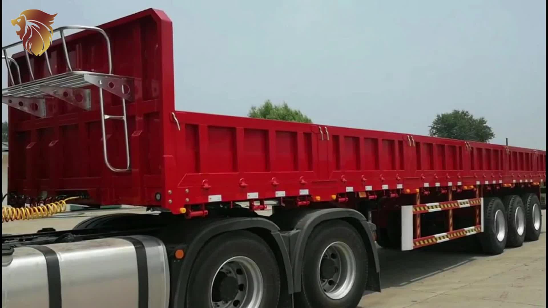 Bulk Cargo Transport Heavy Duty Semi Trailers High Wall
