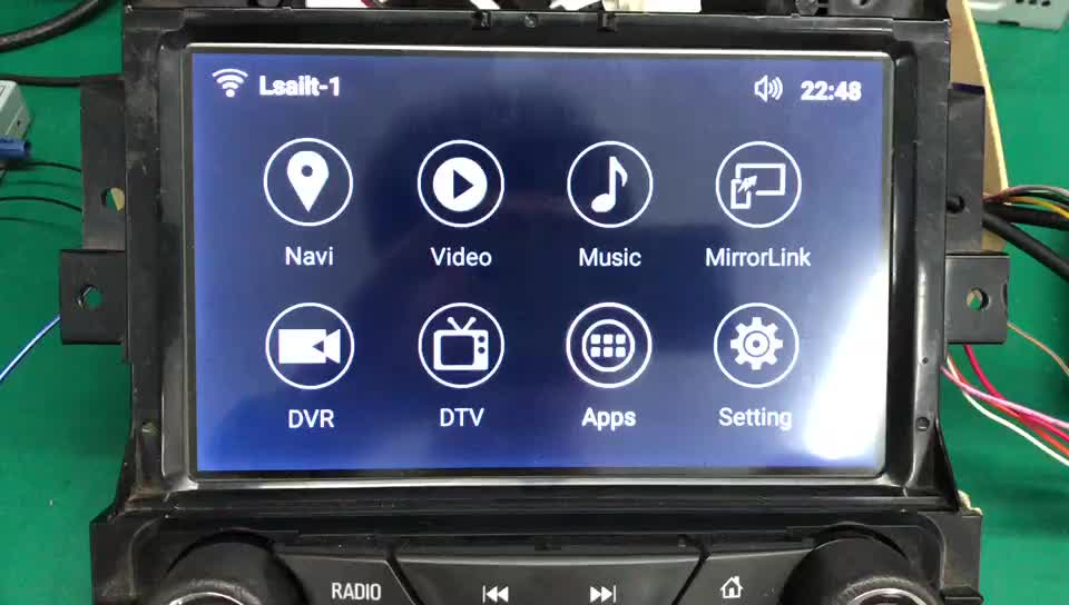 Android 7.1 Car GPS Navigation for Insignia 2014-2018 Intellink Video Interface support apple carplay , android auto by Lsailt