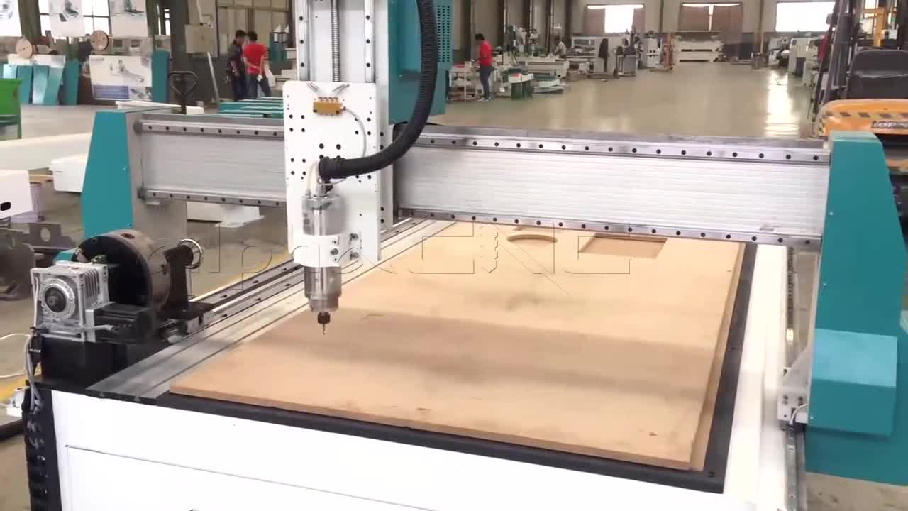 For Carpentry Furniture Making CNC Router 4 Axis Rotary Axis 3d Wood Carving CNC Router With Vacuum Function