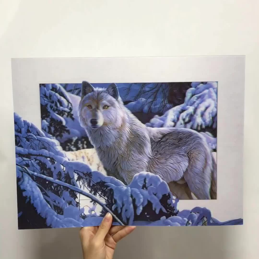Lenticular 5d Pictures of wolf for home decoration 3d animal picture
