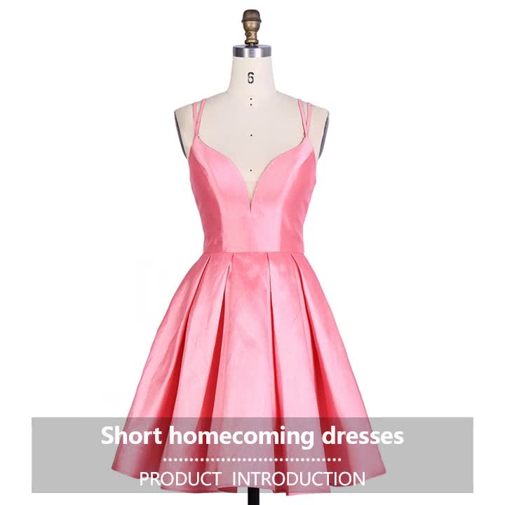 2019 Charming A Line Short bark satin Girl Party low price homecoming dresses