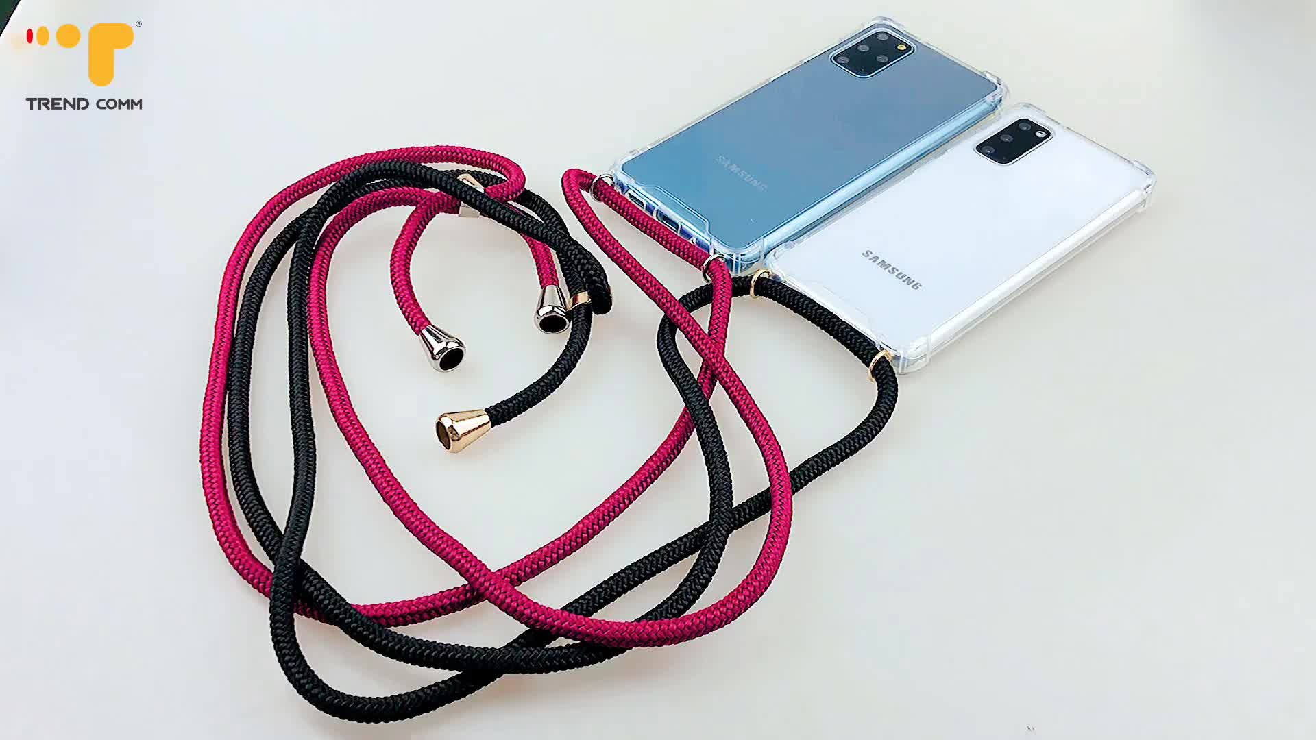 Wholesale PPM Strap Phone Accessories TPU+PC Case For Samsung Galaxy S20