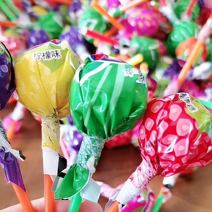 Halal di figura della sfera grande caramella del lollipop dolci