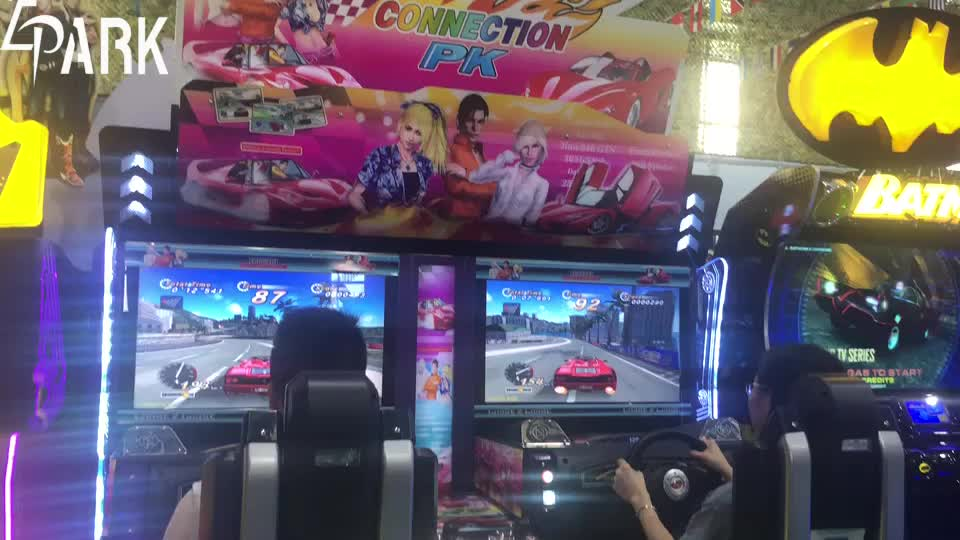 EPARK hot selling 32 inch screen arcade car simulator outrun kids Coin Operated racing gaming machine