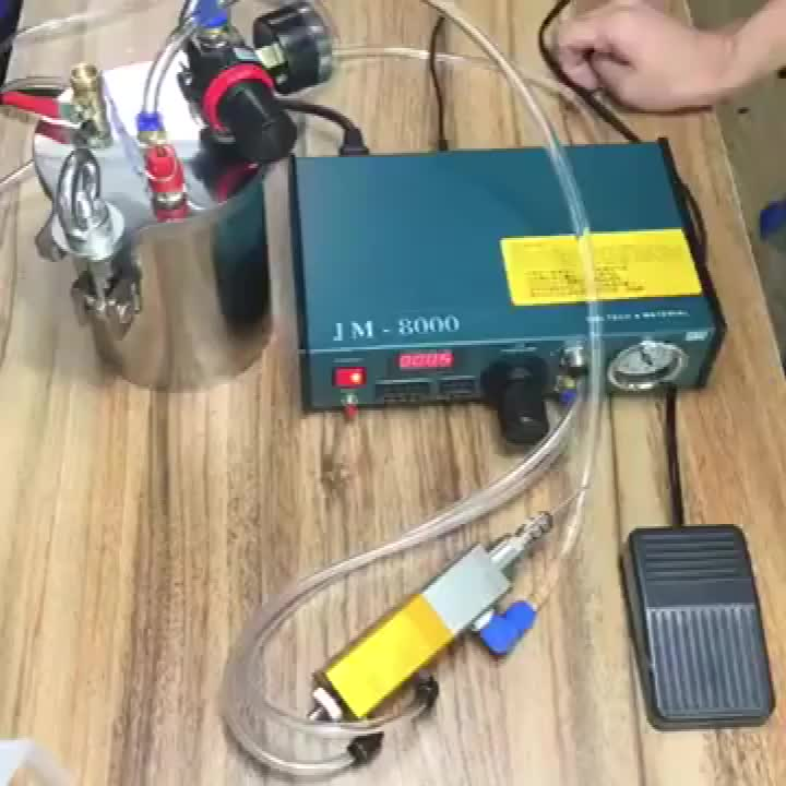 Free Shipping Automatic Dispenser Component Dispensing Suction Valve Quality Glue Dispensing Equipment With Pressure Tank 1 L