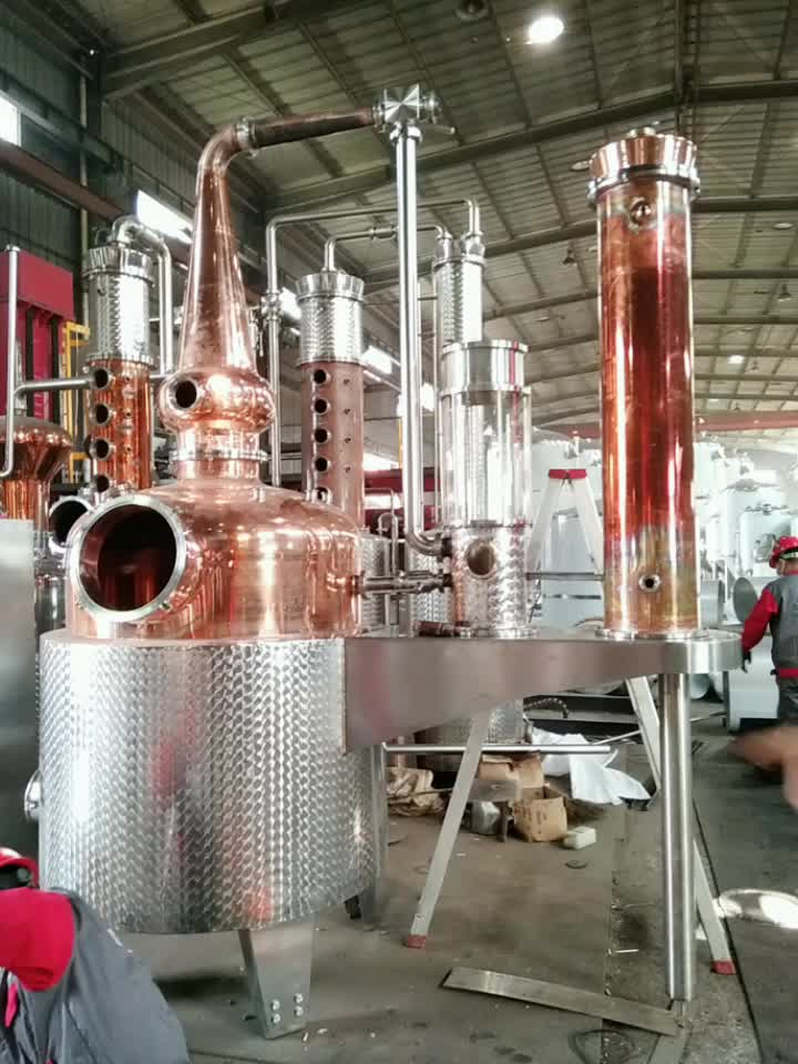 300gallon Pot still alcohol distiller made of copper and stainless steel for sale
