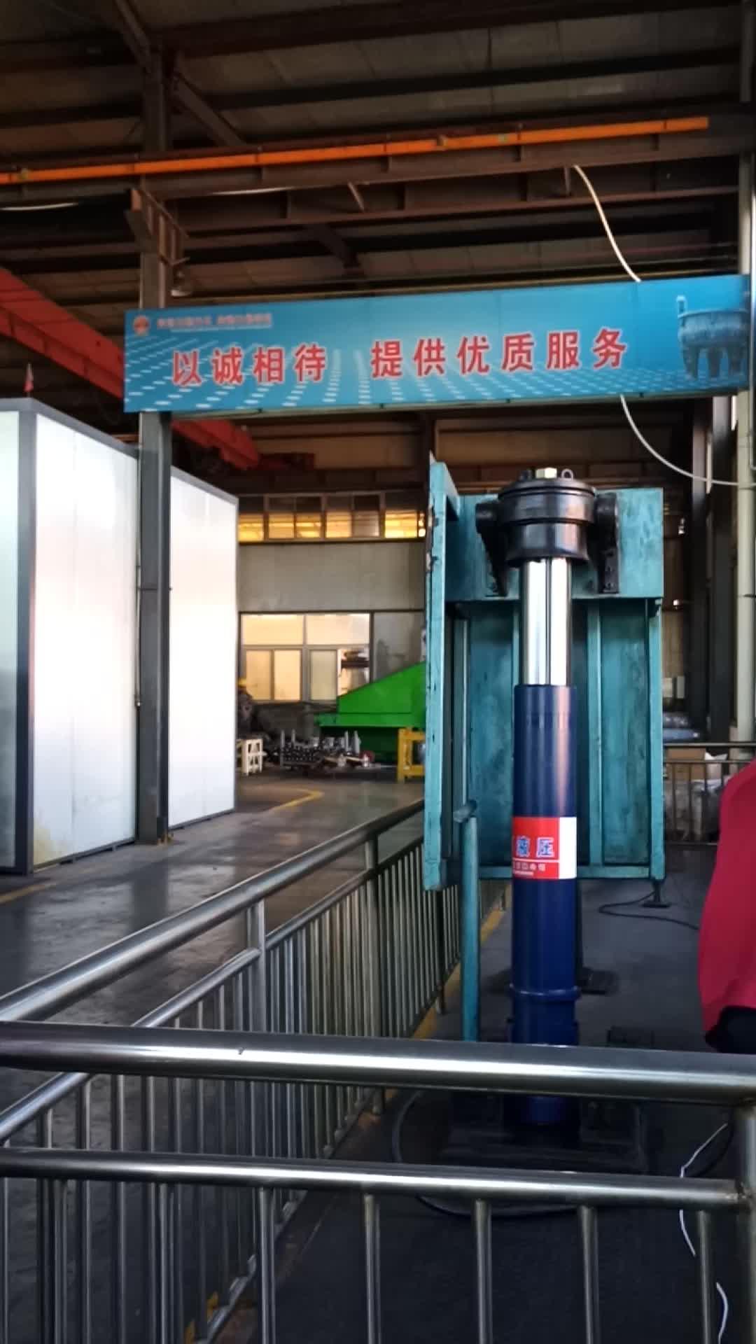 5 Tahap Teleskopik Hidrolik Silinder Jack Digunakan untuk Dump Truck