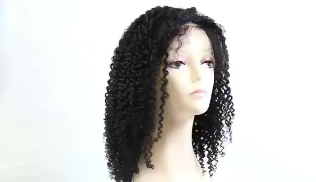 Cheap Wigs For Black Women Kinky Curly Heavy Density Human Hair Full Lace Front Wigs Brazilian Afro Wig