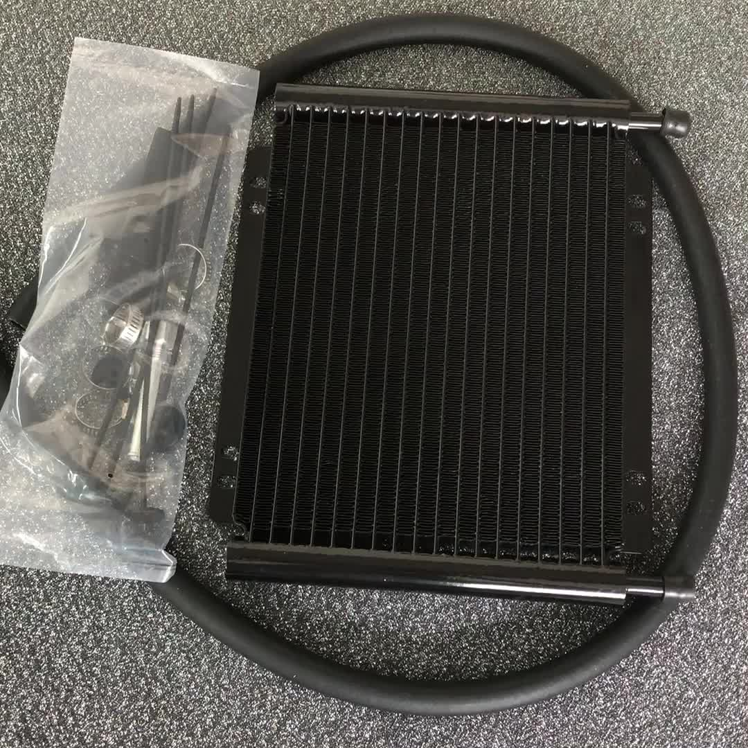 Zwart 19 rijen aluminium motor/racing transmissie oliekoeler voor auto motoren onderdelen